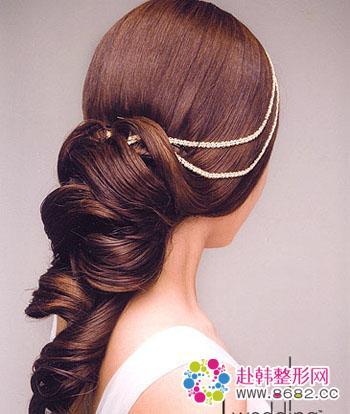 完美新娘必选 漂亮韩式新娘发型,盘发,西式婚纱,韩式