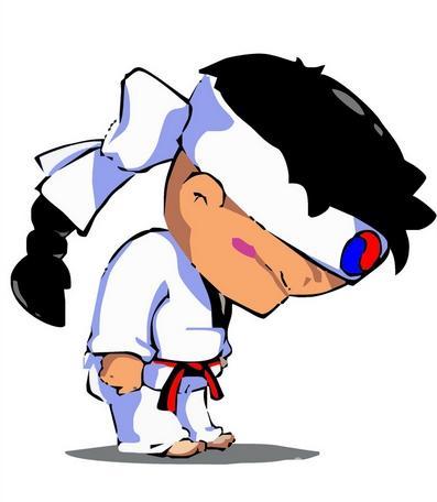 里约奥运会跆拳道logo矢量图