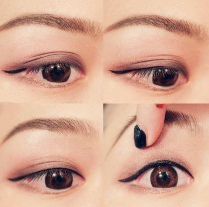 眼线液的画法技巧