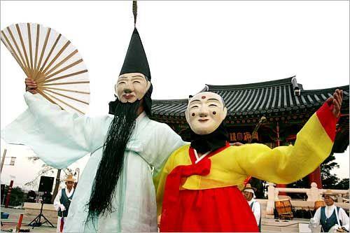 韩国传统舞蹈之假面舞